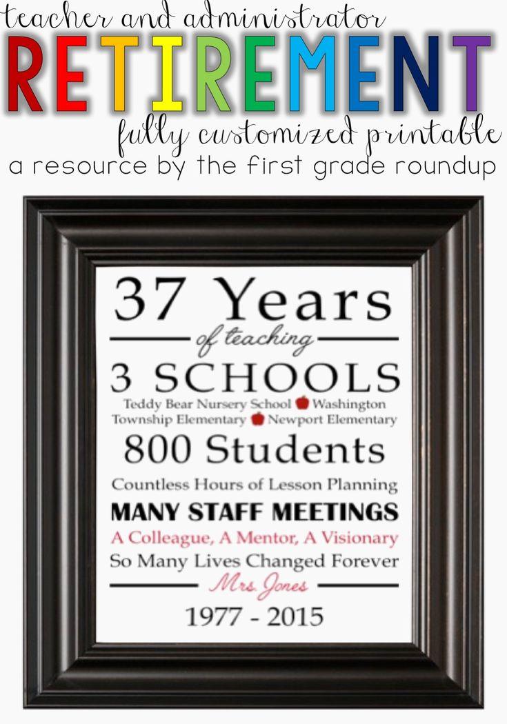 25 Best Ideas About Teacher Retirement Gifts On Pinterest
