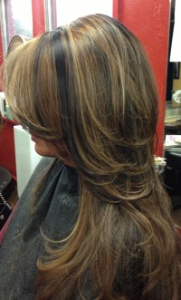 Dark hair with caramel highlights. | Hair color/styles ...
