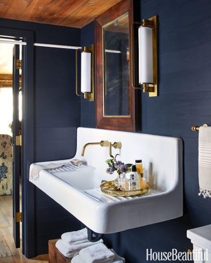 25 best ideas about Navy Bathroom on Pinterest  Bathroom