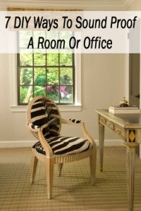 7 Diy Ways To Sound Proof A Room Or Office Crafts Home