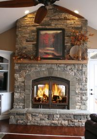 25+ best ideas about Corner stone fireplace on Pinterest