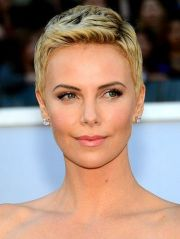 charlize theron short hairstyles