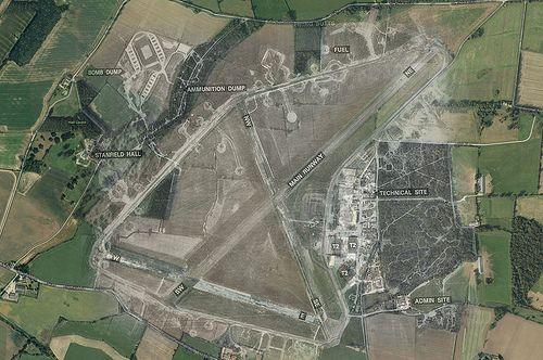 RAF Hethel Aerial Ghost 1946  2013  Airfields of the