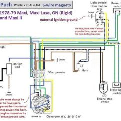 Puch Maxi Wiring Diagram 2006 Hummer H3 Parts Diagrams Moped | 1978-79 6-wire Magneto Chrome Switches Dream ...