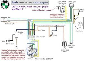 puch moped wiring diagram | Puch Wiring Diagram 197879 6