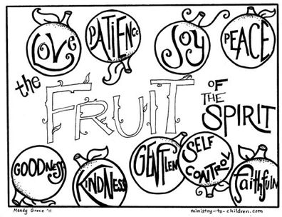 17 Best images about preschool fruit of the spirit on