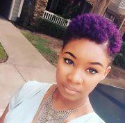 purple twa tapered cut. color