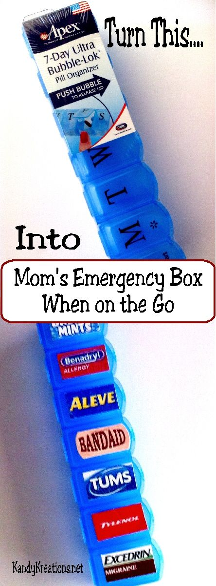 Make a quick and easy emergency first aid kit for your purse when you are on the go. Filled with the m