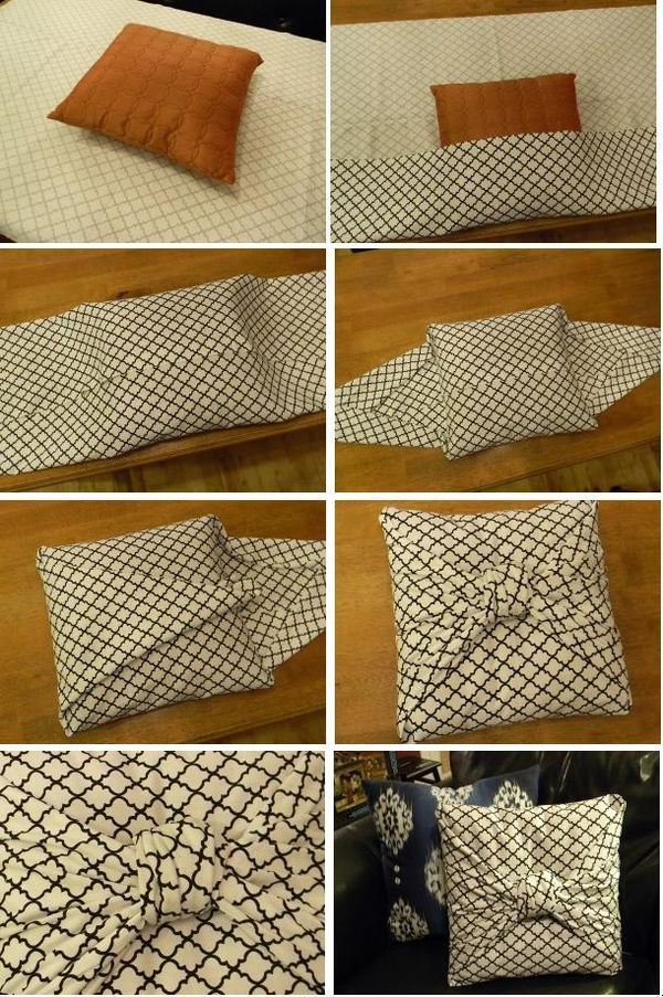 DIY no sew easy throw pillow  Patterns  Pinterest  The ojays Throw pillows and Sew