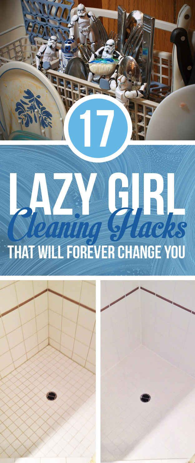 Why didnt I ever think to blend soap and water through a blender to clean it? 17 Lazy Girl Cleaning Hacks That Will Forever Change