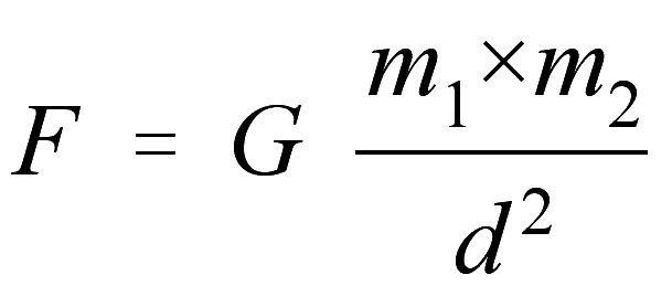 Newton's law of gravitation: the force of attraction