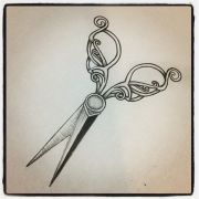 vintage shears tattoo #vintage