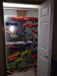 Nerf gun rack | Nerf gun rack | Pinterest | Guns, Nerf and ...