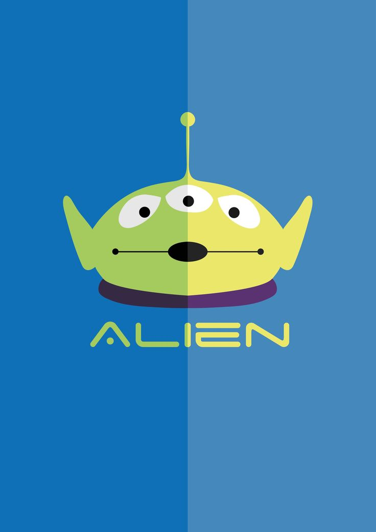 Chibi Cute Couple Wallpaper Toy Story Alien Light And Dark Poster Copyright Of