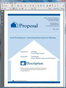 Real Estate Land Development Proposal  The Real Estate