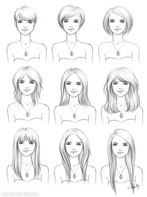 Hair Drawings hair blonde girl art drawing sketch hair