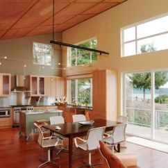 Living Room Lighting Ideas Cathedral Ceiling Solid Wood Tables Vaulted, Shed Roof Interior | House Pinterest ...