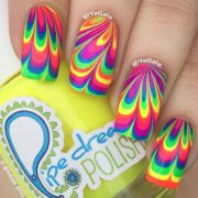 bright neon water marble design