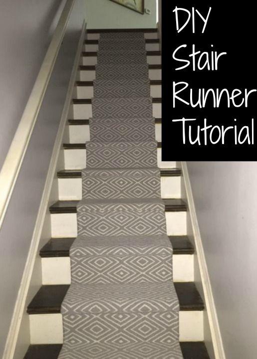 DIY Stair Runner  Runners Tutorials and Home decor