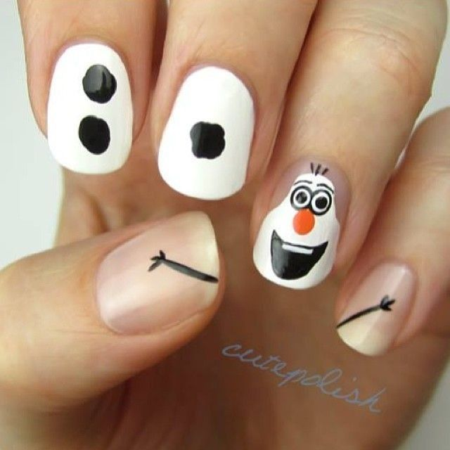 25+ best ideas about Frozen nails on Pinterest