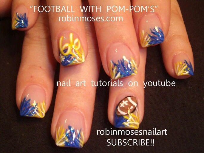 1000+ images about Sports Nails on Pinterest