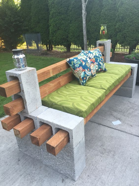 diy patio furniture ideas that are simple and cheap page cinder block
