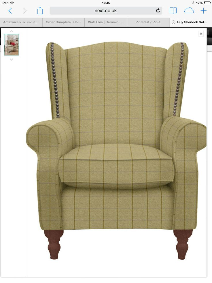 high back chairs living room what size area rug for sherlock chair in smart check chatham green | ...