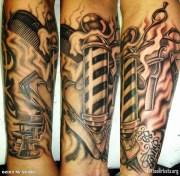 barber themed tattoo's