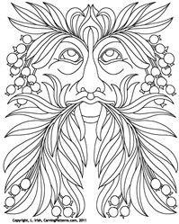 Wood carving patterns, Green man and Oak leaves on Pinterest