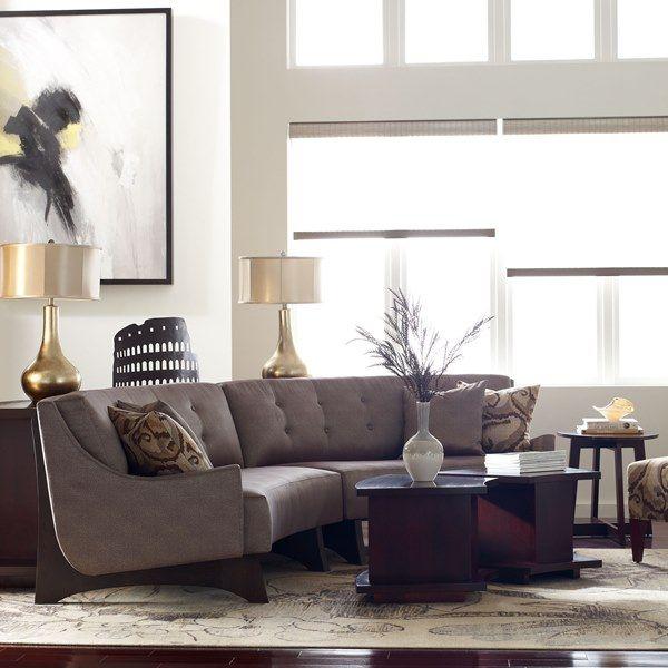 Stickley High Line Sectional livingroom greatroom  Stickley Fine Leather  Upholstery