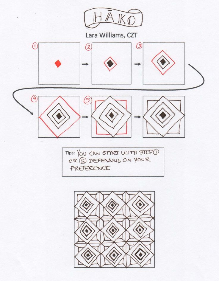 225 best images about Zentangle Patterns on Pinterest