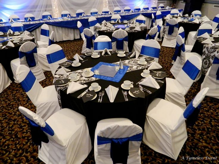 Black And Royal Blue Wedding