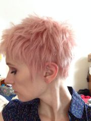 pink pixie cut tigi nyc. hair