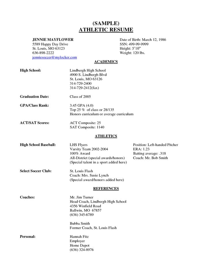 High School Senior Resume Sample  scope of work template  Quotes