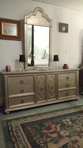 Metallic Painted Furniture AfterRustoleum Metallic