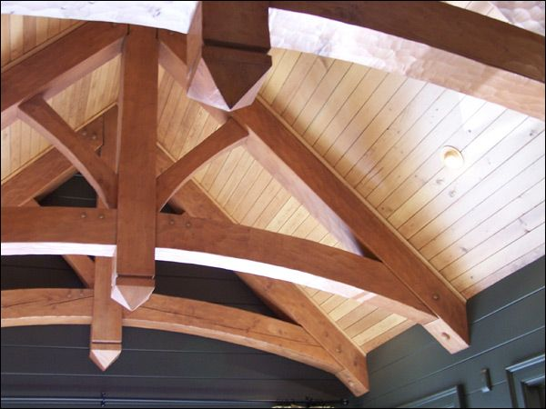 Timber Arched Trusses Hand Scribed Arched Timber Frame