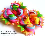 twisted layered boutique hair bow