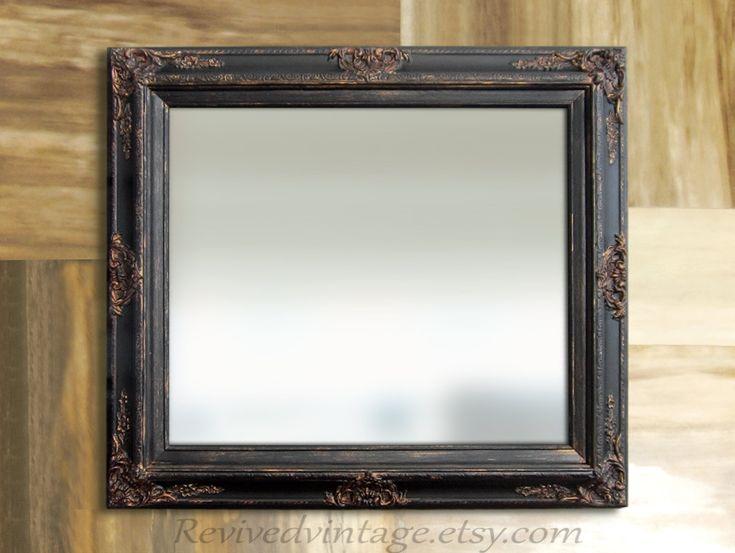 BLACK BATHROOM MIRROR For Sale Rustic Framed Decorative