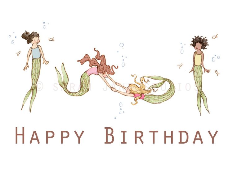 Birthday SALE And Some News! Studios Mermaids And Birthdays