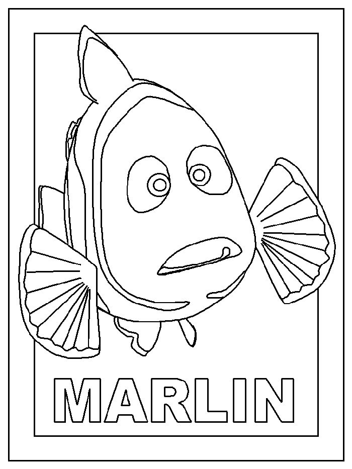 17 Best images about Finding Nemo Coloring Pages on