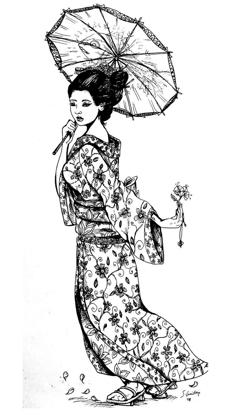 17 Best ideas about Japanese Geisha Tattoo on Pinterest