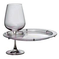 Round Plates with Wine Glass Holder
