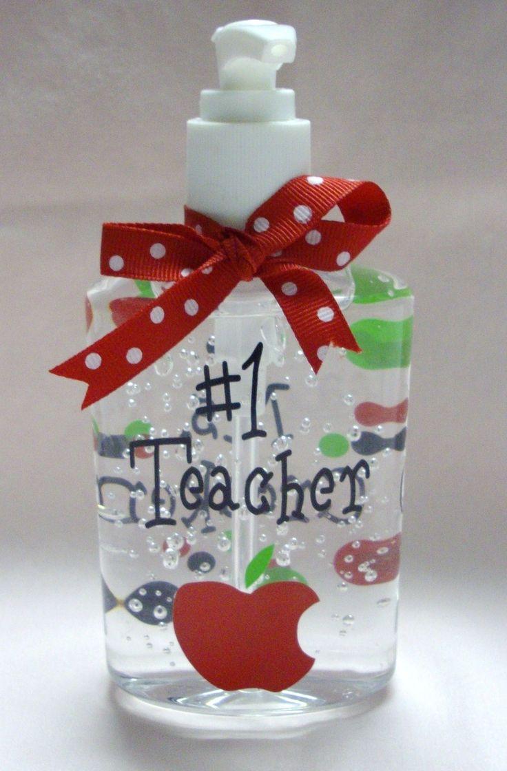 Vinyl Monogram Gifts Hand Sanitizer Teachers Gift The