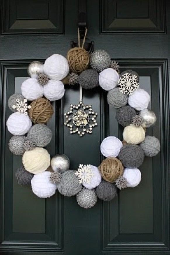 unique christmas wreath: