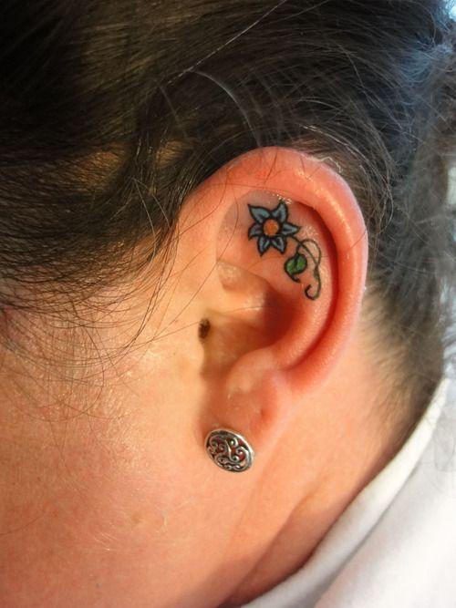 25 Best Ideas About Inner Ear Tattoo On Pinterest Ear