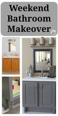4 DIY Bathroom Ideas that are Quick and Easy l | Grey ...