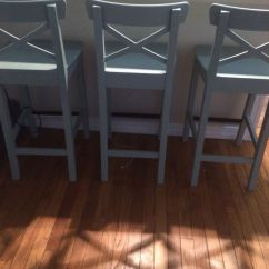 Kitchen Furniture Ikea Cow Ingolf Counter Stools Painted With Annie Sloan Chalk ...