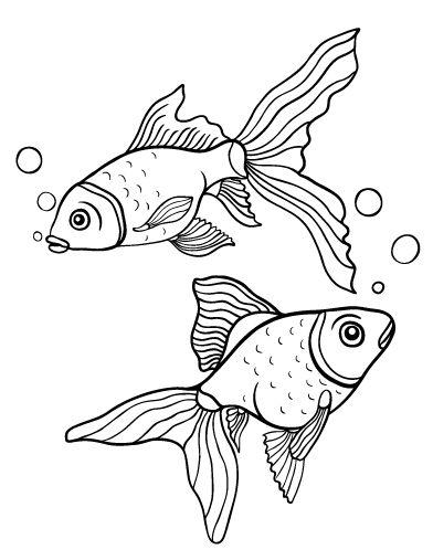 printable goldfish coloring page. free pdf download at