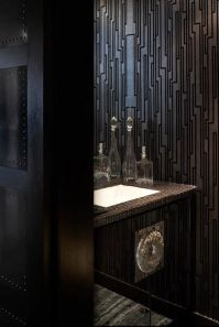 Deborah Oppenheimer Interior Design - bathrooms - black ...