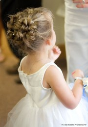 curly updo flower girl crazy